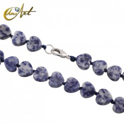 Heart necklace in sodalite