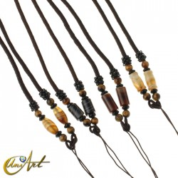 Polyamide cord with agate and tiger eye