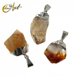 Pendant of Rough Citrine Point