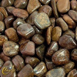 Bronzite tumbled stones in packet of 200 grs