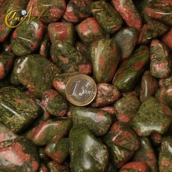 Unkite tumbled stones in packet of 200 grs