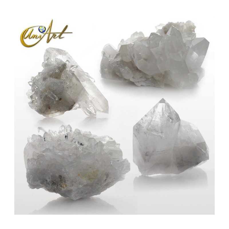 Crystal quartz ,  druses by weight