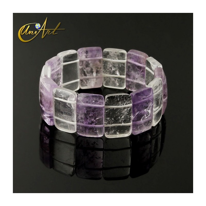 Amethyst bracelet model rectangles