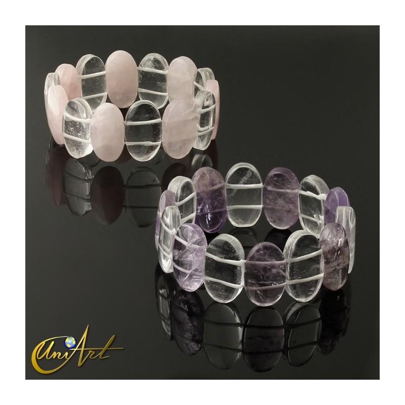 Cuz Love You to The Moon Silver Pink Box Genuine 10Mm Double Wrap Obsidian Dalmatian Mix Bracelet