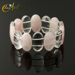 Bracelet oval model - rose quartz