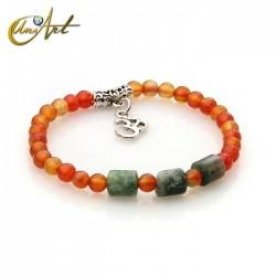OM bracelet - indian agate