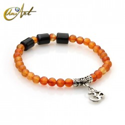 OM bracelet - black agate