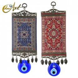 Amuleto grande Ojo Turco con alfombra