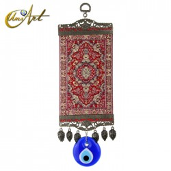 Amuleto grande Ojo Turco con alfombra - modelo 1