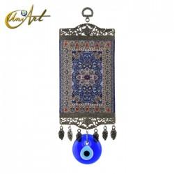 Amuleto grande Ojo Turco con alfombra - modelo 2