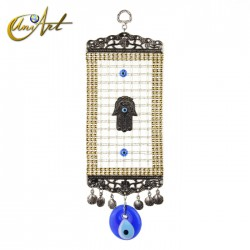 Turkish evil eye amulet with Hamsa and trellis - model 1