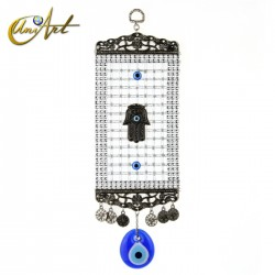 Turkish evil eye amulet with Hamsa and trellis - model 2