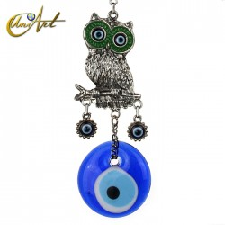 String of owls with the Turkish evil eye