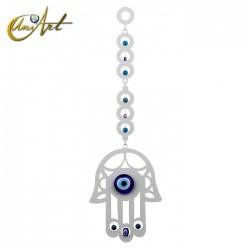 Metal wall ornament with Turkish evil eye