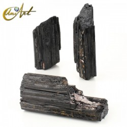 1 kilo of black tourmaline - flat bases