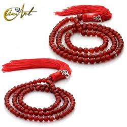 Tibetan Buddhist Mala Beads of Carnelian