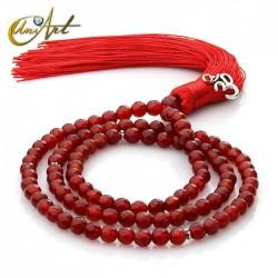 Tibetan Buddhist Mala Beads of Carnelian - 6 mm