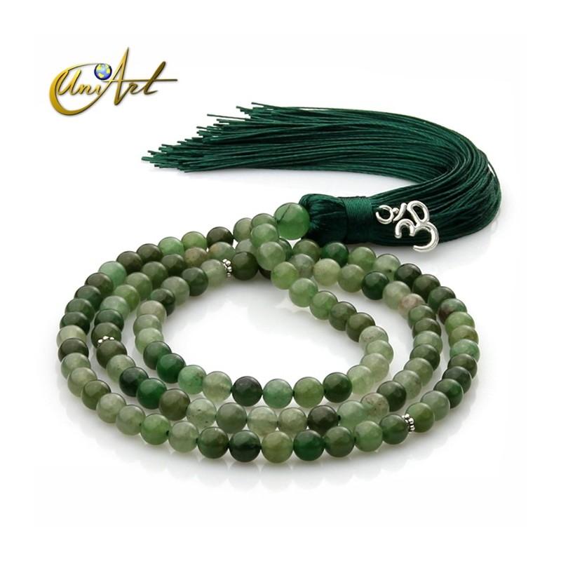 6 mm green aventurine Tibetan Buddhist Mala