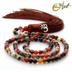 Ember Agate tibetan Buddhist Mala 6 mm Beads