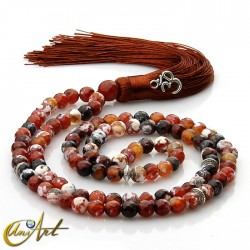 8 mm ember agate beads tibetan Buddhist Mala