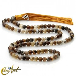 8 mm grizzly agate beads tibetan Buddhist Mala