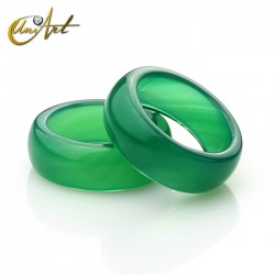 Green agate ring width