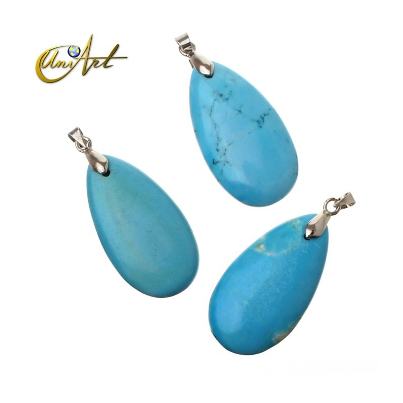 Tear pendants of turquenite