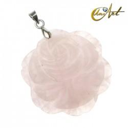Rose Pendant of rose quartz