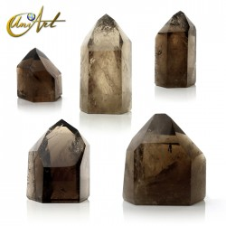 Points of smoky quartz