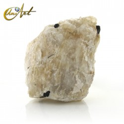 Quartz with black tourmaline