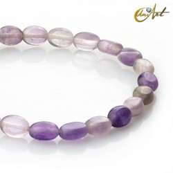 Oval amethyst beads