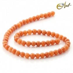 Aventurina naranja - tiras de cuentas 6 mm