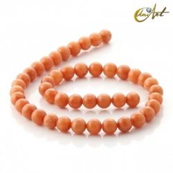 Aventurina naranja - tiras de cuentas 8 mm