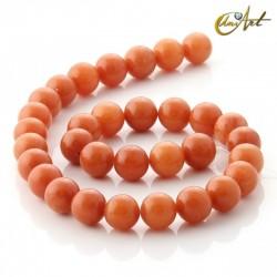 Aventurina naranja - tiras de cuentas 12 mm