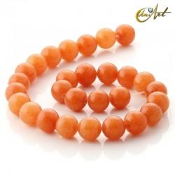 Aventurina naranja - tiras de cuentas 14 mm