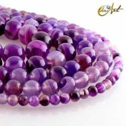 Purple agate balls