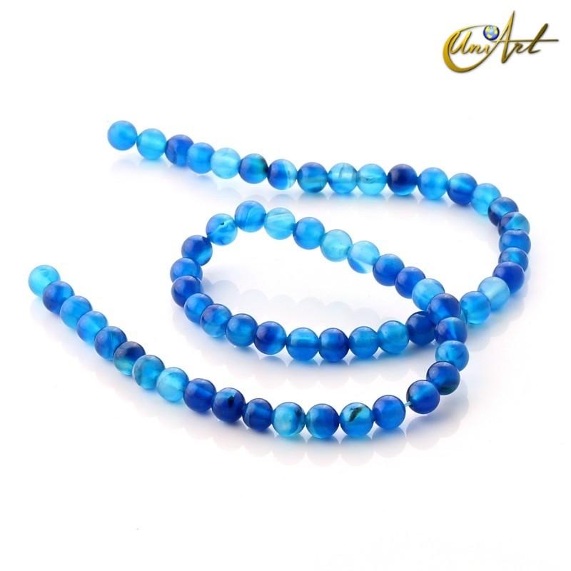 Ágata Azul - bolas 6 mm