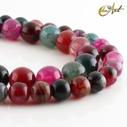 Colorful dragon agate - beads