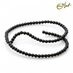 Ónix negro - cuentas de 4 mm