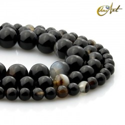 Strips of black agate banded