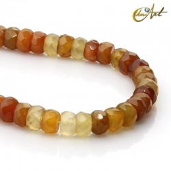 Amber agate in rondelle cut