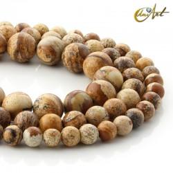 picutre Jasper beads - round