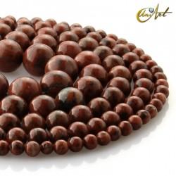 Jasper sesame, round beads