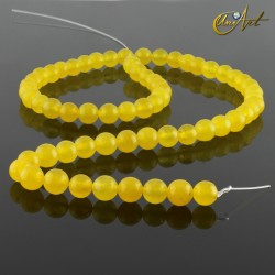 Jade amarillo - bolas 6 mm