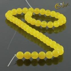Jade amarillo - bolas 8 mm