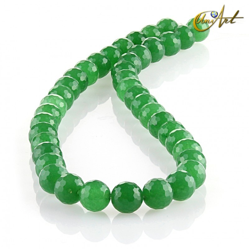 Jade verde – bolas facetadas 10 mm