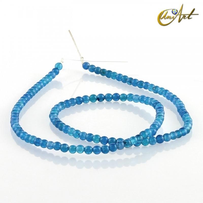 Jade azul – bolas 3 mm