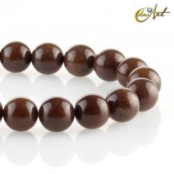 Bolas de jade marrón