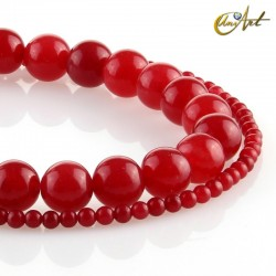 Jade Carmine beads