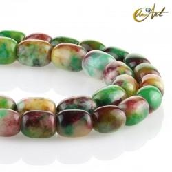 Jade multicolor en forma de barril